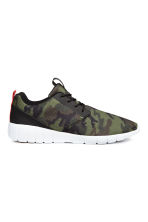Mesh trainers - Khaki green/Patterned - Men | H&M CN 1