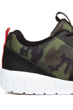 Mesh trainers - Khaki green/Patterned - Men | H&M CN 4