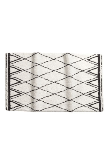 Jacquard-weave bath mat - Natural white/Patterned - Home All | H&M CN 1