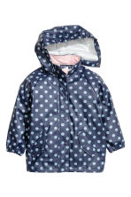Rain jacket with hood - Dark blue/Spotted - Kids | H&M 2
