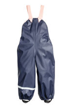 Rain Pants with Suspenders - Dark blue - Kids | H&M CA 2