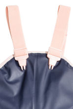 Rain Pants with Suspenders - Dark blue - Kids | H&M CA 3