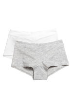 MAMA 2-pack cotton shorts - Grey marl/White - Ladies | H&M CN 2