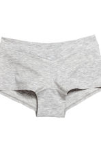 MAMA 2-pack cotton shorts - Grey marl/White - Ladies | H&M CN 3