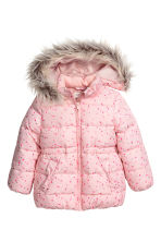 Padded Jacket - Light pink/hearts - Kids | H&M CA 2