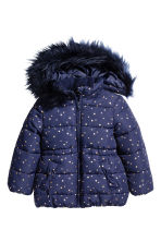 Padded jacket - Dark blue/Stars - Kids | H&M 2