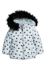 Padded Jacket - Dark gray/hearts -  | H&M CA 2