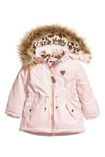 Padded parka - Light pink - Kids | H&M CN 2