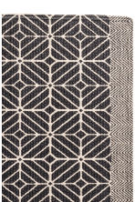 Patterned bath mat - Natural white/Anthracite grey - Home All | H&M CN 2