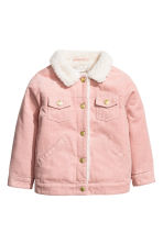 Pile-lined corduroy jacket - Powder pink -  | H&M 2