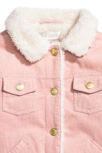 Pile-lined corduroy jacket - Powder pink -  | H&M 3