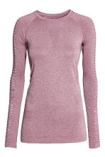 無痕運動上衣 - Light purple marl - Ladies | H&M 2