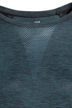 Seamless sports top - Petrol marl - Ladies | H&M 3