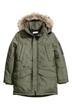 Padded parka - Khaki green - Kids | H&M 2