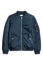Padded bomber jacket - Dark blue -  | H&M 2
