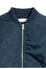 Padded bomber jacket - Dark blue -  | H&M 4