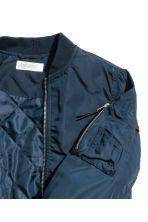 Padded bomber jacket - Dark blue -  | H&M 3