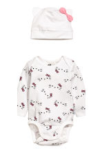 3-piece jersey set - White -  | H&M 3
