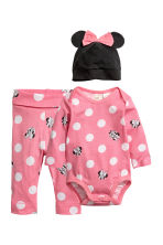 3-piece jersey set - Pink/Minnie Mouse - Kids | H&M 1