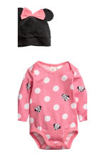 3-piece jersey set - Pink/Minnie Mouse - Kids | H&M 3