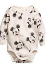 3-piece jersey set - Light beige/Mickey Mouse -  | H&M 3