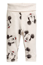3-delige tricot set - Lichtbeige/Mickey Mouse - KINDEREN | H&M BE 2
