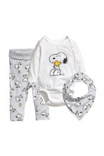 3-piece jersey set - White/Snoopy - Kids | H&M CA 1