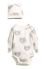 3件式平紋套裝 - White/Bear - Kids | H&M 3