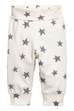 3-piece jersey set - Natural white/Stars - Kids | H&M 2