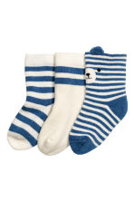 3雙入襪子 - Blue/Striped -  | H&M 2