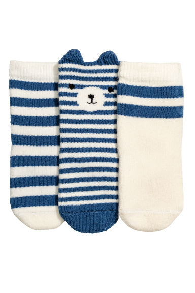 3雙入襪子 - Blue/Striped -  | H&M 1