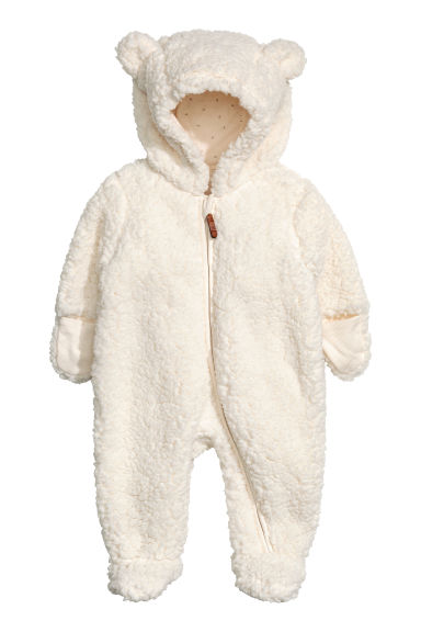 Pile all-in-one suit - Natural white - Kids | H&M CN 1