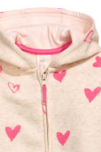 Sweatshirt all-in-one suit - Natural white/Hearts -  | H&M 2