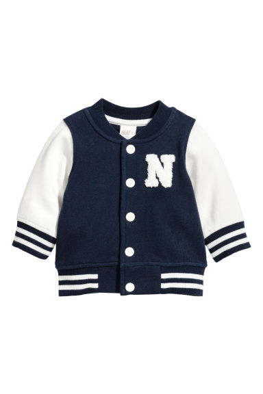 Baseball jacket - Dark blue -  | H&M 1