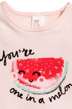 Jersey top - Light pink/Watermelon - Kids | H&M 2
