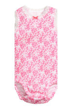 2-pack sleeveless bodysuits - White/Floral - Kids | H&M 3