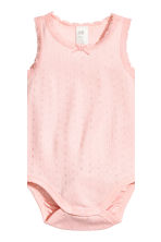 2-pack sleeveless bodysuits - Light pink - Kids | H&M CN 3