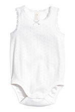 2-pack sleeveless bodysuits - Light pink - Kids | H&M CN 2