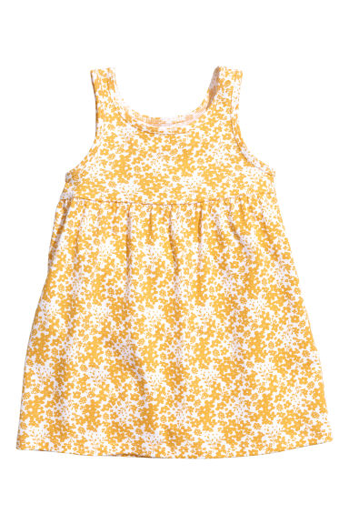 Jersey dress - Yellow/Floral - Kids | H&M 1