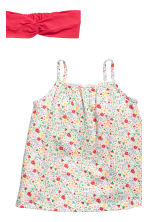 3-piece jersey set - White/Floral - Kids | H&M 3
