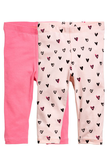2-pack leggings - Rosa - BARN | H&M SE