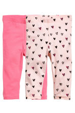 Lot de 2 leggings - Rose -  | H&M FR 1