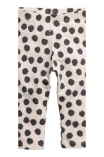 2-pack leggings - Dark gray/dotted - Kids | H&M CA 3