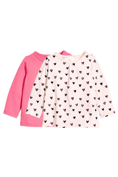 2-pack tops - Pink - Kids | H&M 1