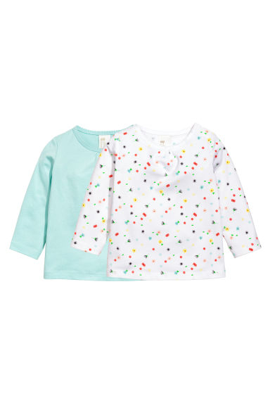2-pack tops - Mint green - Kids | H&M CA