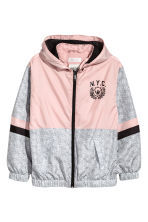 Hooded windproof jacket - Dusky pink -  | H&M CN 2