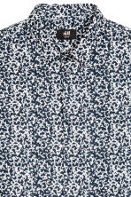 Premium cotton shirt - Dark blue/Patterned - Men | H&M 3