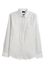 Cotton shirt Slim fit - White/Black spotted - Men | H&M 2