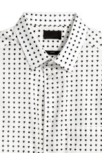 Cotton shirt Slim fit - White/Black spotted - Men | H&M 3
