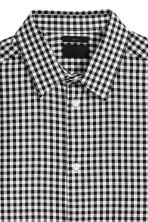 Checked shirt Slim fit - Black/White checked - Men | H&M 3